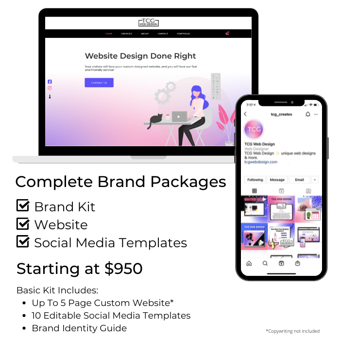 Website design and branding packages price list
